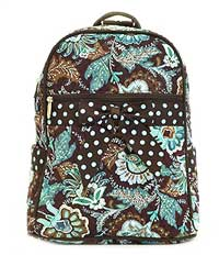 Quilted Flower Paisley Backpack/Sling