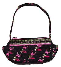 Quilted Flamingo Handbag
