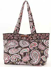 Quilted Paisley Medium Tote Bag