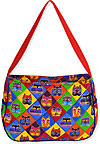 Diamond Cat Masks Medium Hobo Bag