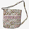 Paisley Quilted Crossbody Bag in Pink and Tan