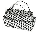 Purse Organizer in White and Black Polkadots