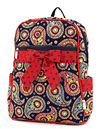 Quilted Paisley Medium Zippered Backpack