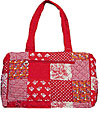 Quilted Patchwork Tote/Diaper Bag in Red